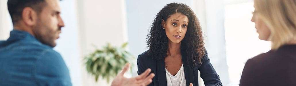 A mediator who practices family law meets with a husband and wife